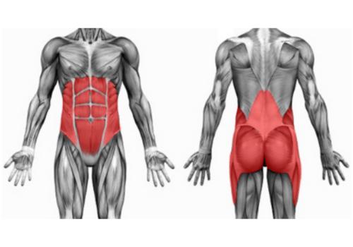 Gibanje v središču telesa mora biti učinkovito